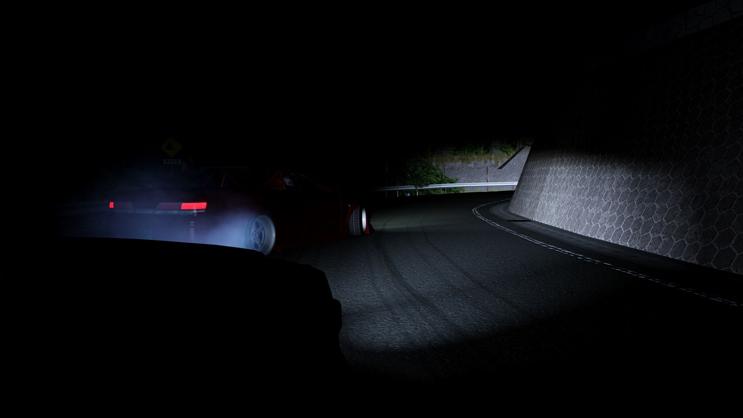峠のライト